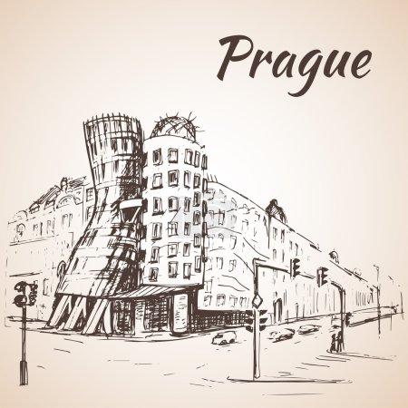 Photo pour Maison de danse - Prague, République tchèque - image libre de droit