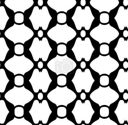 Seamless decorative classic black and white pattern