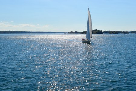 Yachts at 1000 Islands and Kingston in Ontario, Ca...
