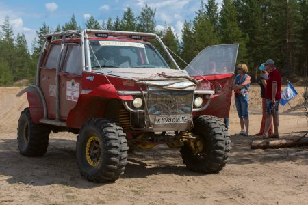 Homemade off-road car. Off-road racing. Girvas 18.07.2015. SUVs, Jeeps, ATVs. Summer, Sand.