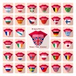Tongues. Pack of 32 different language icons. Each...