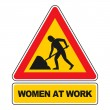 Women at Work sign vector isolated on white. All e...