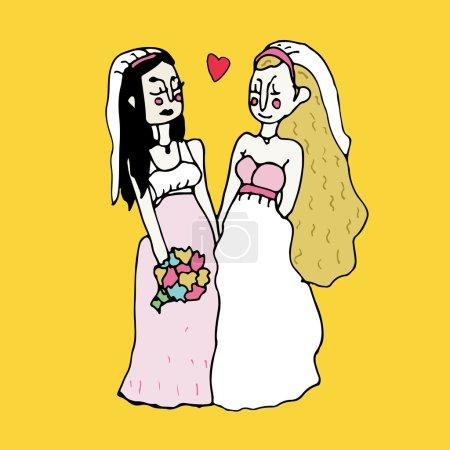 Homosexual wedding ceremony.