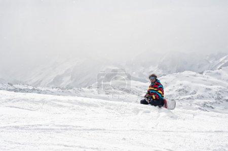Photo pour Scène hivernale dans les Alpes françaises, Les 2 Alpes - image libre de droit