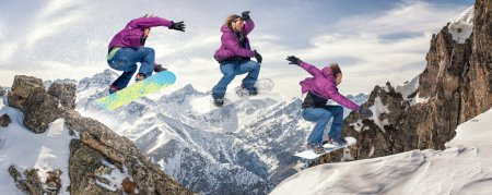 The snowboarding jump