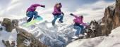 Snowboarding skok