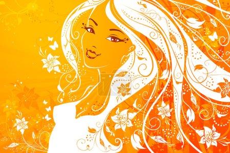 Illustration pour Yellow vector illustration. - image libre de droit