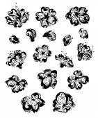 Vector set of spring flowers