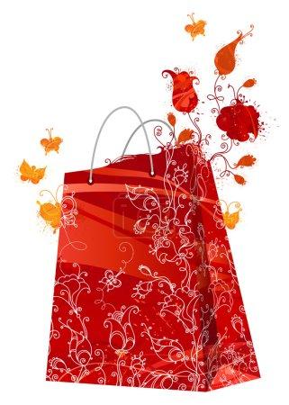 Floral shopping bag.