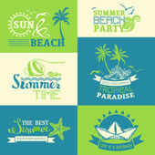 summer and travel labels and symbols