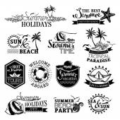 Vector set of summer and travel designs