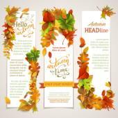 Vector set of vertical autumn banners.