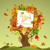 Bright colourful autumn birch
