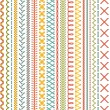 Vector high detailed colourful stitches on white b...