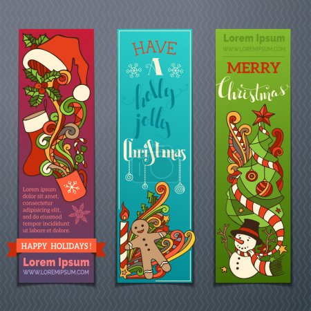 Vector set of colourful Christmas banners.
