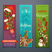 Vector set of colourful Christmas banners