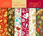 Vector set of seamless love patterns