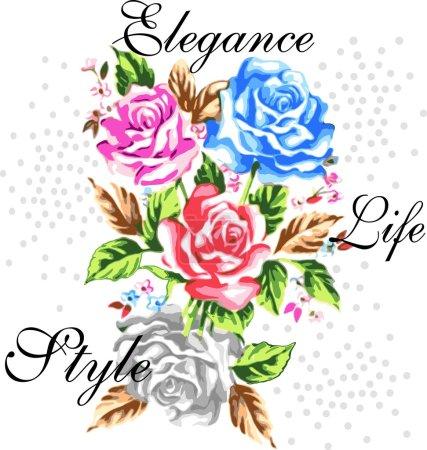 Illustration pour Style de vie élégant pour les vêtements pour femmes - image libre de droit
