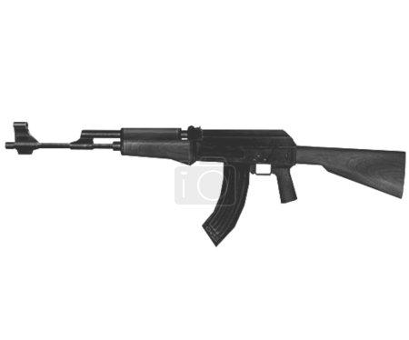 Kalashnikov assault rifle ak 74, isolated on a whi...