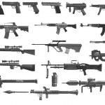 Lmg, Assault, Assault Rifles, Black, Other, Eps10,...