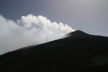 Day time view of Etna volcano