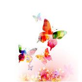 Progetto sfondo farfalle