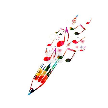 Illustration pour Concept d'écriture créative fond - image libre de droit