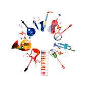 Colorful musical instruments design vector illustration
