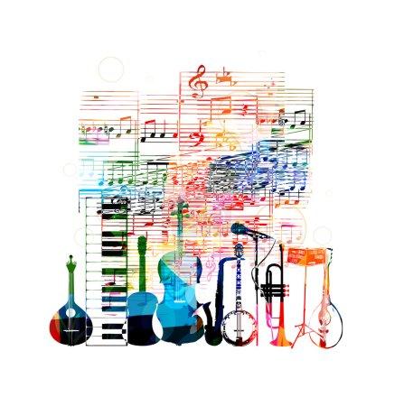 Illustration pour Conception d'instruments de musique colorés - image libre de droit