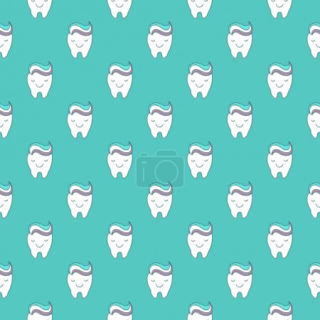 Funny teeth seamless pattern