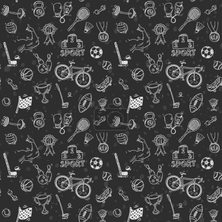 sport icons seamless pattern