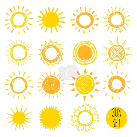 set of yellow Funny suns