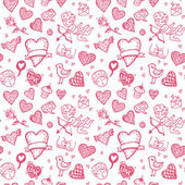 Valentines day doodle background