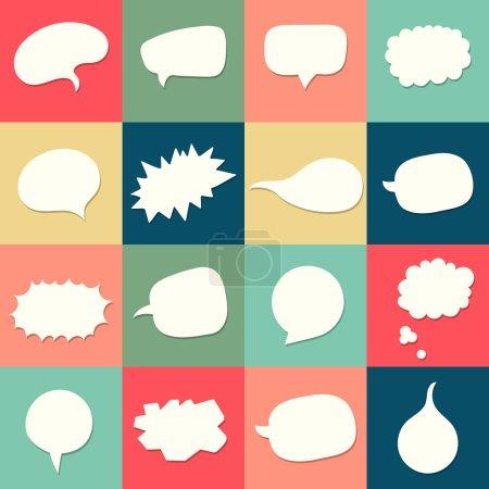 Illustration pour Vector speach bulles collection de fond . - image libre de droit