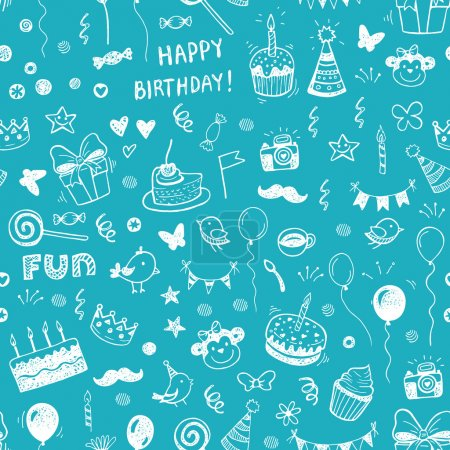 Happy birthday seamless background