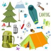 Set of camping equipment