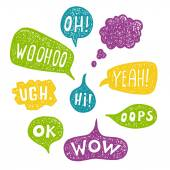 Speech Bubble Acronyms Set