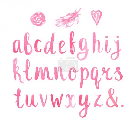Hand drawn watercolor font