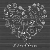 set of fitness and sport signs