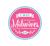 International midwives day greeting 5 may Vector typography