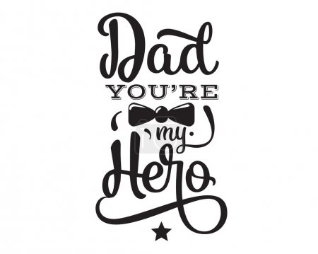 Happy fathers day. Vector typography.