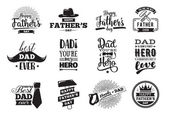 Happy fathers day set Vector typography