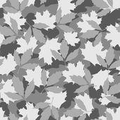 Grey foliage camouflage seamless pattern