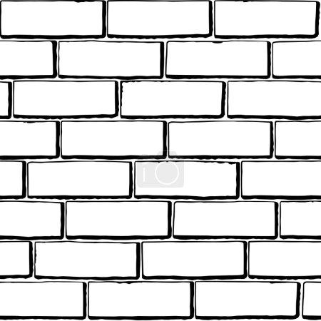 Seamless black-white brick texture