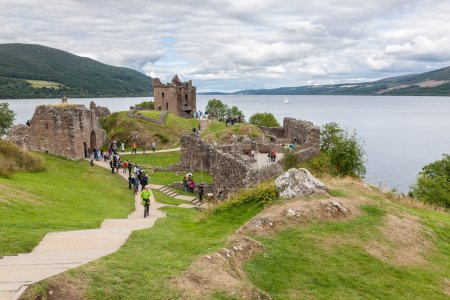Urquhart Castle beside Loch Ness, Scotland, Uk