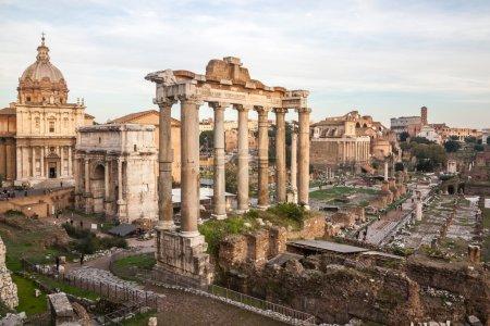 Roman Forum is a rectangular forum (plaza) surroun...