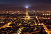 Skyline of Paris at night