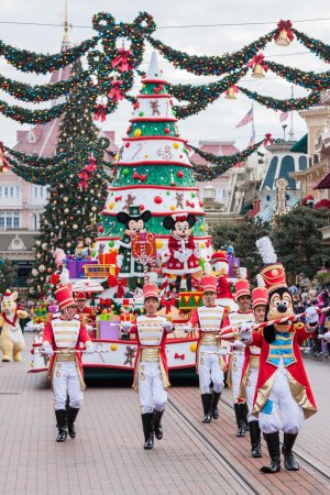 Photo for Disney Christmas Parade in Disneyland Paris. - Royalty Free Image