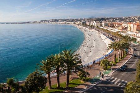 Photo pour Vue de Nice sur la Côte d'Azur, France. Nice est la cinquième ville la plus peuplée de France - image libre de droit