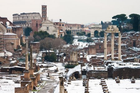 The Roman Forum is a rectangular forum surrounded ...